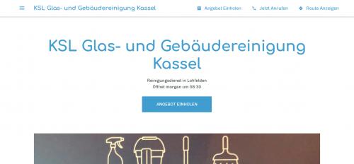 Firmenprofil von: KSL Glas und Unterhaltsreinigung in Kassel