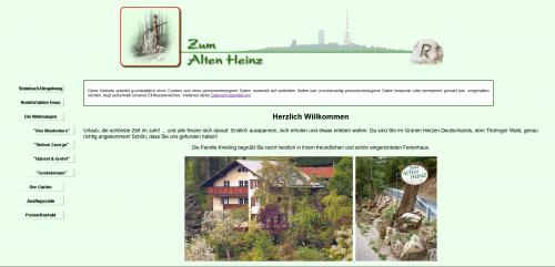 Firmenprofil von: Zum Alten Heinz: Ihre Unterkunft im Thüringer Wald