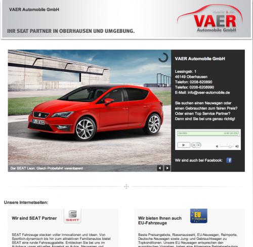 Firmenprofil von: Autohaus in Oberhausen: VAER Automobile GmbH