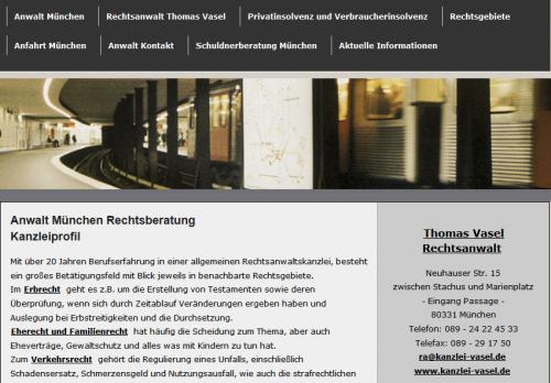 Firmenprofil von: Rechtsanwalt in München: Kanzlei Vasel