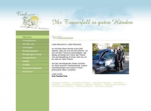 Firmenprofil von: Bestattungsinstitut Verde in Rüsselsheim