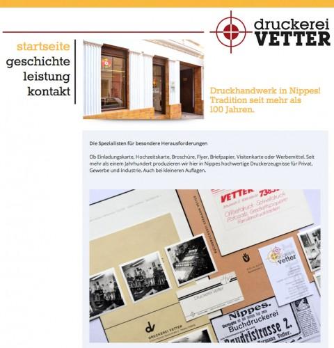 Firmenprofil von: Druckerei Vetter in Köln