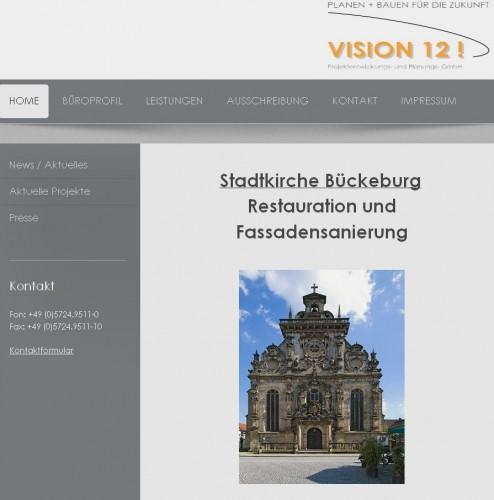 Firmenprofil von: VISION 12! Projektentwicklungs- und Planungs- GmbH in Obernkirchen