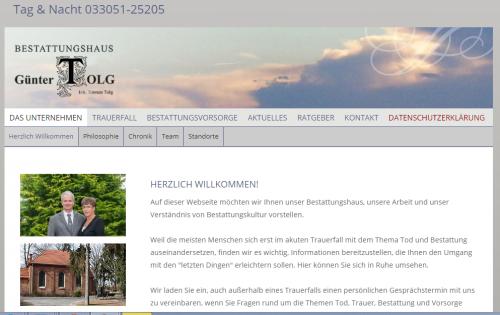 Firmenprofil von: Ihre einfühlsamen Ansprechpartner für Bestattungen in Oranienburg