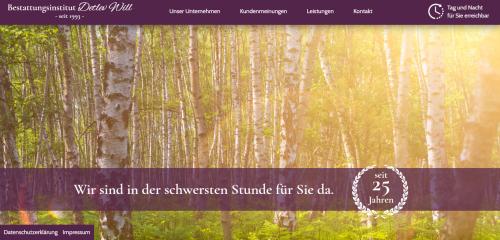 Firmenprofil von: Ihr Partner für die Bestattungsvorsorge in Herzberg: Bestattungsinstitut Will
