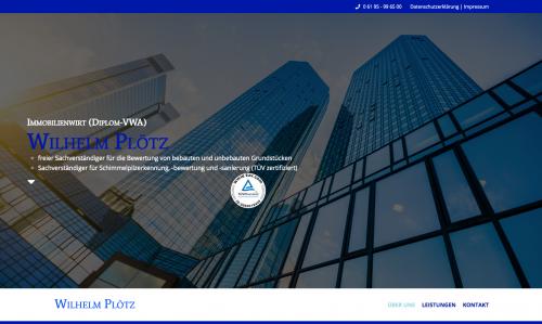 Firmenprofil von: Unabhängige Immobilienbewertung in Frankfurt/Main, Main-Taunus-Kreis, Hoch-Taunus-Kreis: Wilhelm Plötz Dipl.-VWA Immobilienwirt