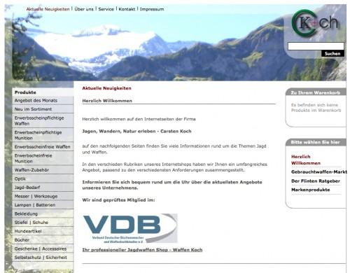 Firmenprofil von: Waffen Koch in Lüdinghausen
