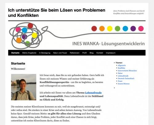Firmenprofil von: Ines Wanka, Lösungsentwicklerin in Berlin