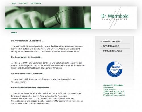 Firmenprofil von: Anwaltskanzlei Dr. Warmbold in Stralsund – Qualität durch Fachkompetenz und Erfahrung