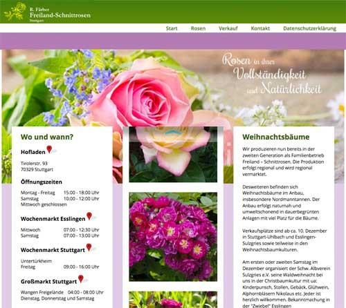 Firmenprofil von: Regionale Schnittrosen von Roland Färber aus Stuttgart