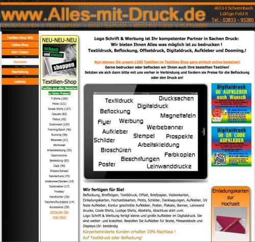 Firmenprofil von: Online T-Shirtdruck in Schermbeck:  LOGO SCHRIFT & WERBUNG