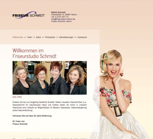 Firmenprofil von: Zweithaarstudio in Hamm: Friseur Schmidt