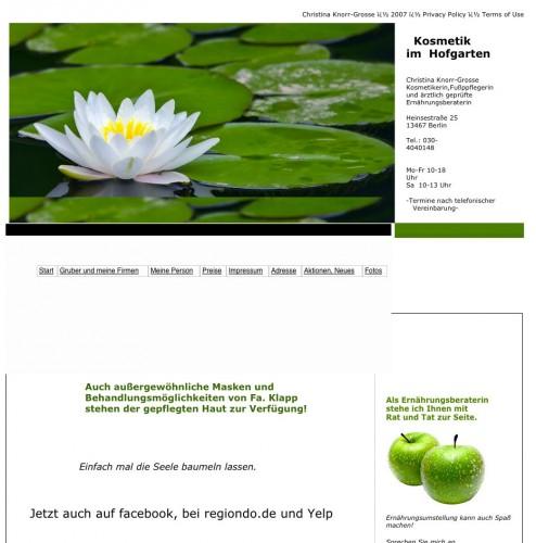 Firmenprofil von: Kosmetik im Hofgarten in Berlin