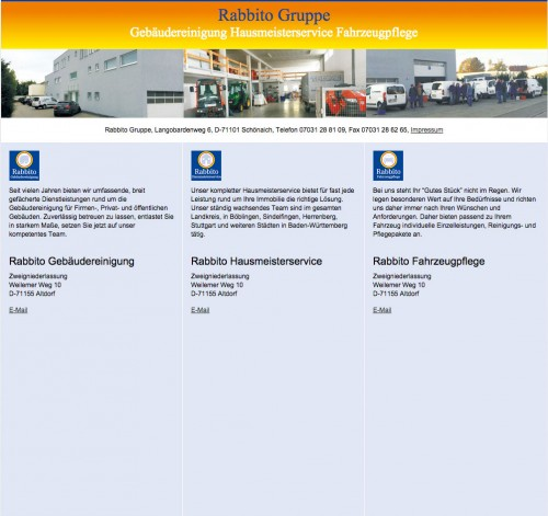 Firmenprofil von: Rabbito Hausmeister- u. Gebäudeservice in Schönaich