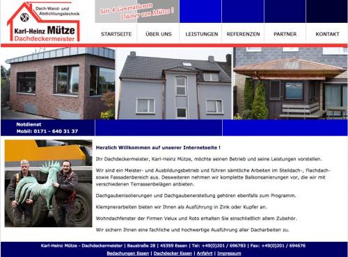 Firmenprofil von: Dachdeckerei in Essen: Dachdeckermeister Karl-Heinz Mütze