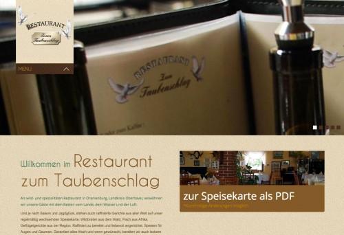 Firmenprofil von: Restaurant in Oranienburg: Restaurant zum Taubenschlag
