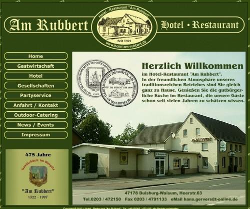 Firmenprofil von: Hotel Restaurant Am Rubbert in Duisburg