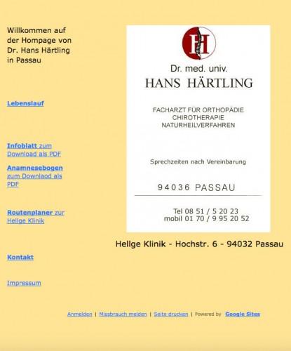 Firmenprofil von: Kiss-Syndrom Passau: Dr.med. univ. Hans Härtling