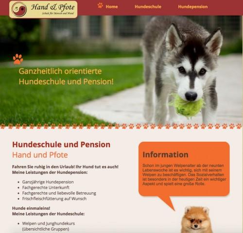 Firmenprofil von: Hundeschule und Hundepension Hand & Pfote in Halver