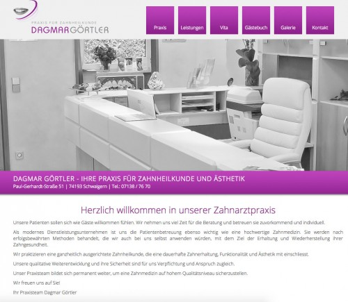 Firmenprofil von: Zahnarztpraxis Dagmar Görtler in Schwaigern