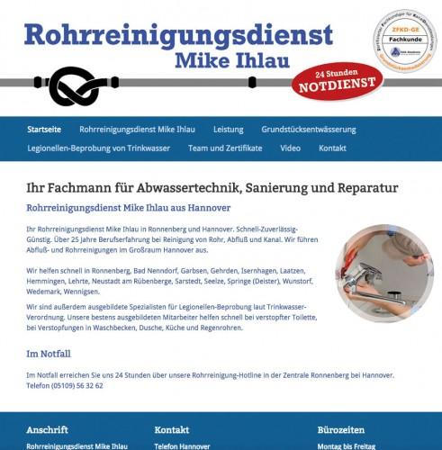 Firmenprofil von: Rohrreinigungsdienst Mike Ihlau in Ronnenberg