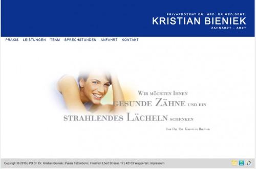 Firmenprofil von: Privatdozent Dr. med. Dr. med. dent. Kristian Bieniek: Zahnarztpraxis in Wuppertal