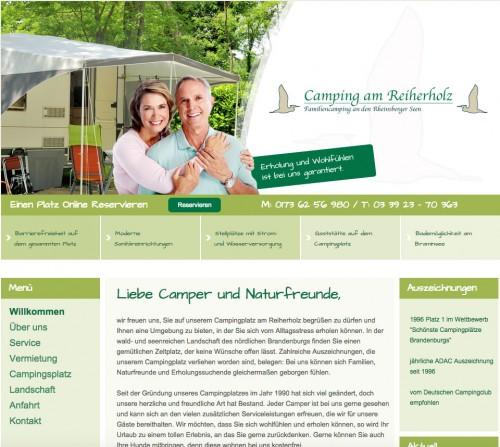 Firmenprofil von: Camping am Reiherholz – Campingplatz in Rheinsberg