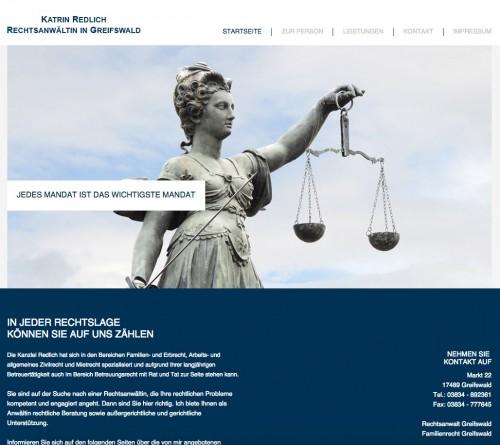 Firmenprofil von: Katrin Redlich, Rechtsanwältin in Greifswald