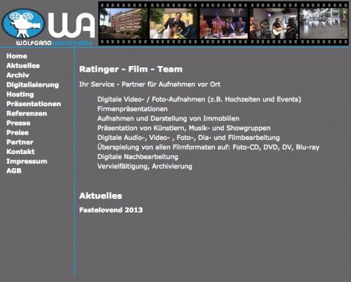Firmenprofil von: Filmproduktion Wolfgang Augustiniak in Ratingen