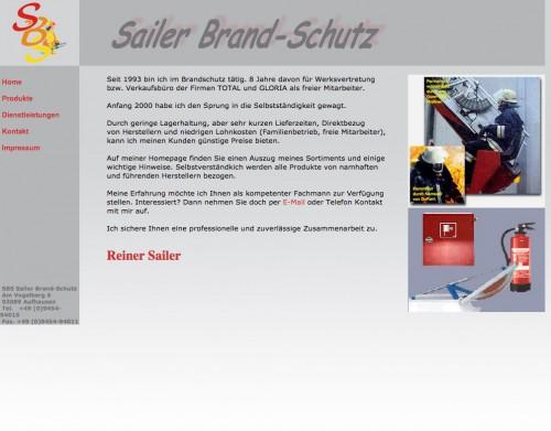 Firmenprofil von: Brandschutz in Aufhausen: SBS Sailer Brand-Schutz