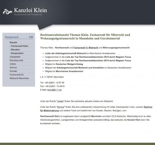 Firmenprofil von: Pachtrecht in Mannheim: Thomas Klein Fachanwalt für Mietrecht