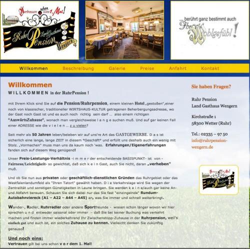 Firmenprofil von: Pension in Wetter: Ruhr Pension Land Gasthaus Wengern