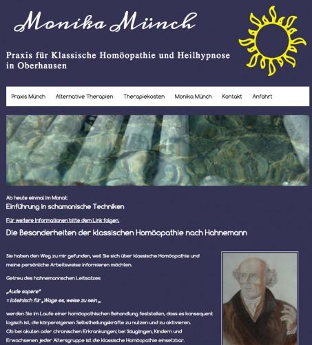 Firmenprofil von: Heilpraktikerin in Oberhausen: Monika Münch