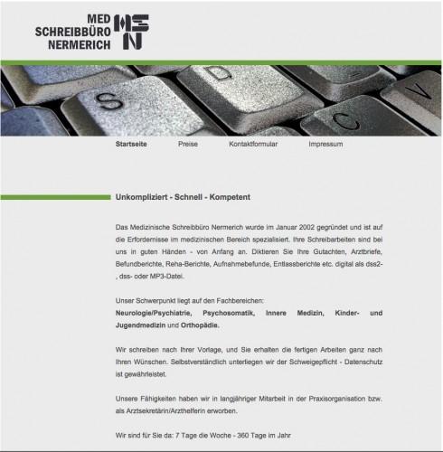 Firmenprofil von: Medizinisches Schreibbüro Patricia Nermerich im Saarland