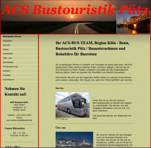 Firmenprofil von: Busreisen in Köln: ACS Bustouristik Pütz GmbH