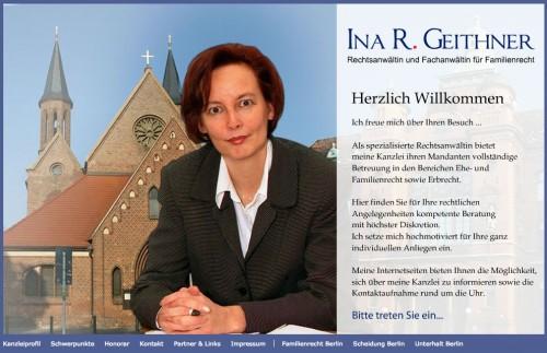 Firmenprofil von: Umgangsrecht in Berlin: Rechtsanwältin und Fachanwältin Geithner