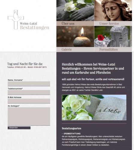 Firmenprofil von: Bestatter in Bad Herrenalb: Weiss-Lutzi Bestattungen