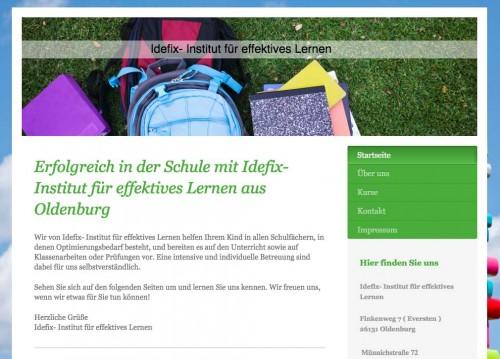 Firmenprofil von: Nachhilfeunterricht in Oldenburg: Idefix Institut für effektives Lernen