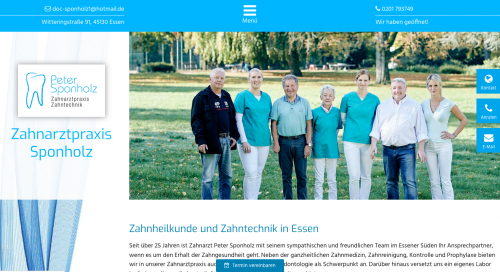 Firmenprofil von: Zahnarztpraxis Peter Sponholz in Essen