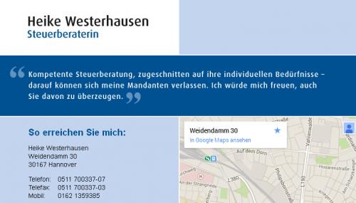 Firmenprofil von: Steuerberatung Heike Westerhausen in Hannover