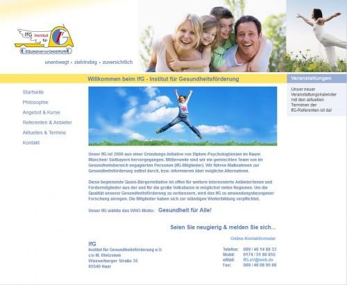 Firmenprofil von: Institut für Gesundheitsförderung in München