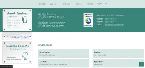 Firmenprofil von: Schnell zum perfekten Lächeln – mit Ihrem Zahnarzt Frank Lindner in Nordhausen