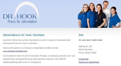 Firmenprofil von: Zahnarztpraxis Dr. med. dent. Günter Hook in Viernheim