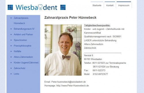 Firmenprofil von: Zahnarztpraxis Peter Hünnebeck aus Wiesbaden