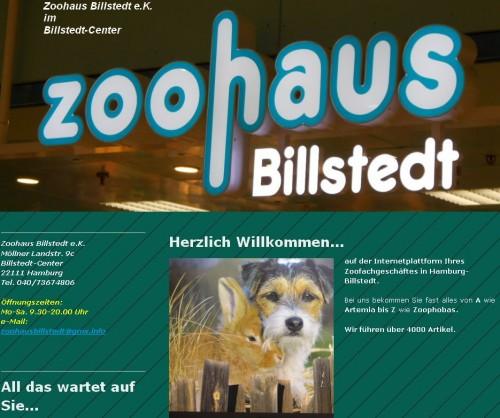 Firmenprofil von: Zoohaus Billstedt in Hamburg