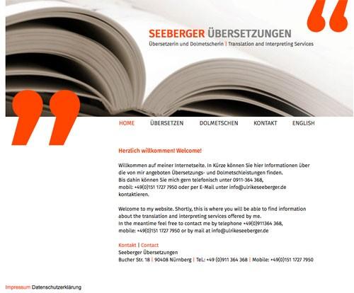 Firmenprofil von: Kompetente Dolmetscherin – Übersetzungen Seeberger in Nürnberg