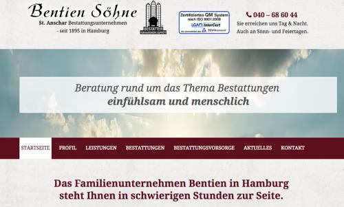 Firmenprofil von: Bestattungsunternehmen Bentien Söhne GmbH in Hamburg