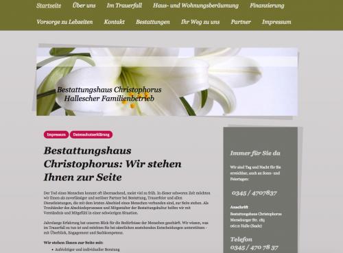 Firmenprofil von: Bestattungen in Halle: Bestattungshaus Christophorus