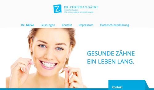 Firmenprofil von: Zahnarzt Dr. Gätke in Wittenberge