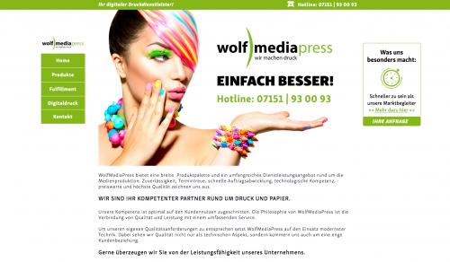 Firmenprofil von: Umfangreiches Leistungsangebot bei WolfMediaPress in Korb